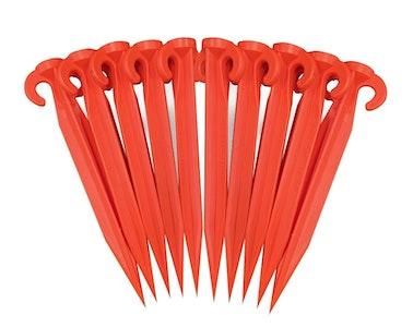 Pack of 10x Supa Peg Orange Polycarbonate Tent Pegs 370mm x 40mm