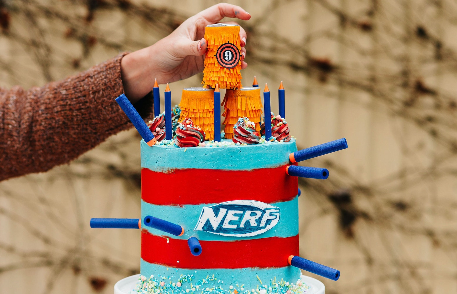 HOW TO MAKE A NERF TARGET CAKE TOPPER