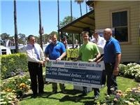 Camp Quality gets a cheque from CIAVic and friends Bendigo Leisurefest