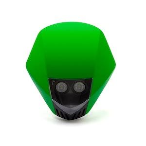 Stealth Supermoto LED Headlight - Green