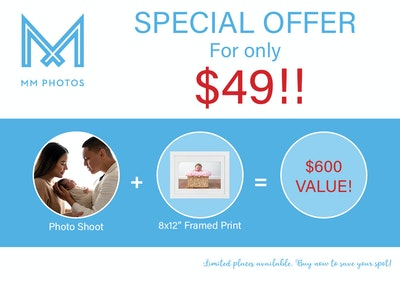 Newborn Photography Special Offer for only $49!