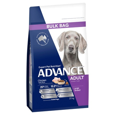 Advance Large Breed Adult Chicken with Rice Dry Dog Food 20kg