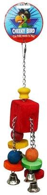Cheeky Bird Hanging Quad Bell B0883