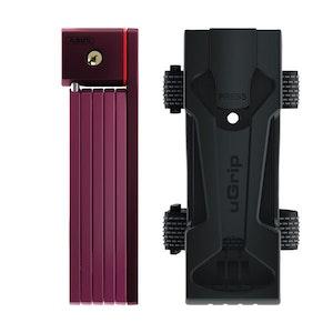 ABUS U-Grip Bordo 5700 80cm Folding Link Bike Lock - Purple