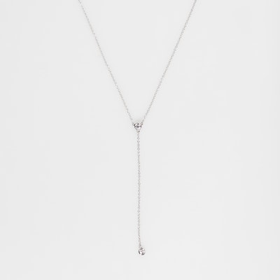 I Dream of Silver Classic Short Y Necklace