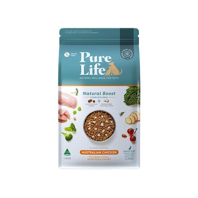 PURE LIFE Natural Boost Chicken Dry Cat Food 1.5KG