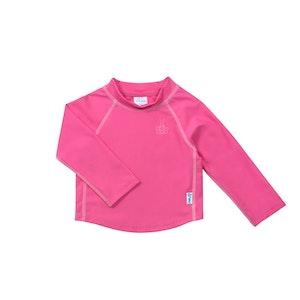 green sprouts Long Sleeve Rashguard Shirt-Hot Pink