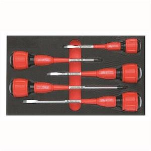 Toledo Screwdriver Set 5 Pc Strike-Thru Slotted & Phillips