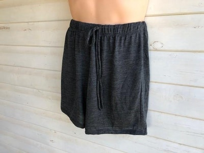 Men's Sleep Shorts   100% Merino Wool Charcoal