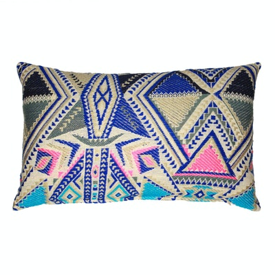 Global Sisters Shop Indie Cushion Cover - Oblong - Blue