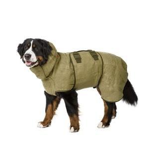 Siccaro Supreme Pro (olive) - Premium Wet Dog Drying Coat