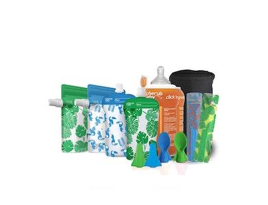 Fresh Food Solids Feeding Kit - Toucan Blue & Rainforest Green