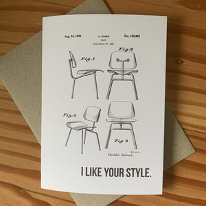 """""""I like your style"""" Eames tribute card"""
