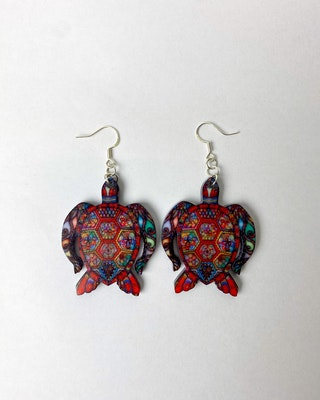 Totally Inspired Creations Turby The Turtle Earrings