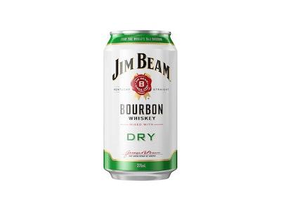 Jim Beam & Dry Can 375mL