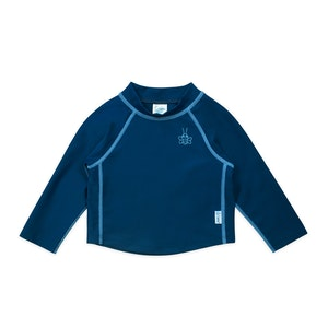 i play. Long Sleeve Rashguard Shirt-Navy