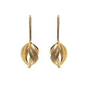 Handmade Twisted Filigree Earrings -24K Gold Plated-