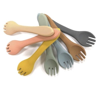Dove and Dovelet Silicone Fork & Spoon Set