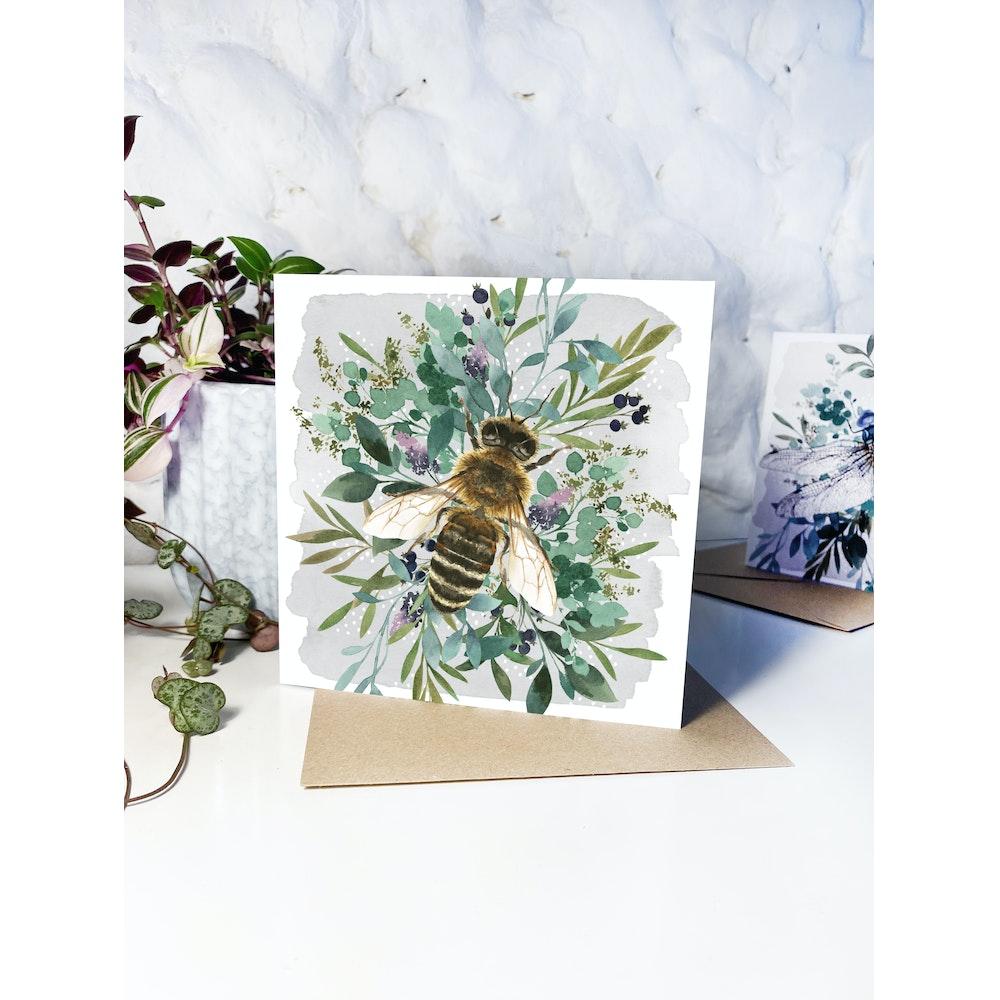 Laura Elizabeth Illustrations Bee Greetings Card