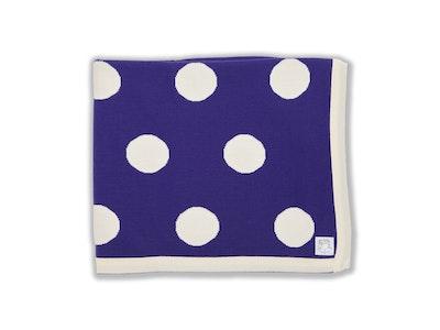 100% PURE Australian Merino Leroy Mac Designs Purple Spot Blanket/Throw