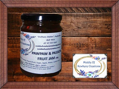 Pawpaw and Passionfruit Jam 250g