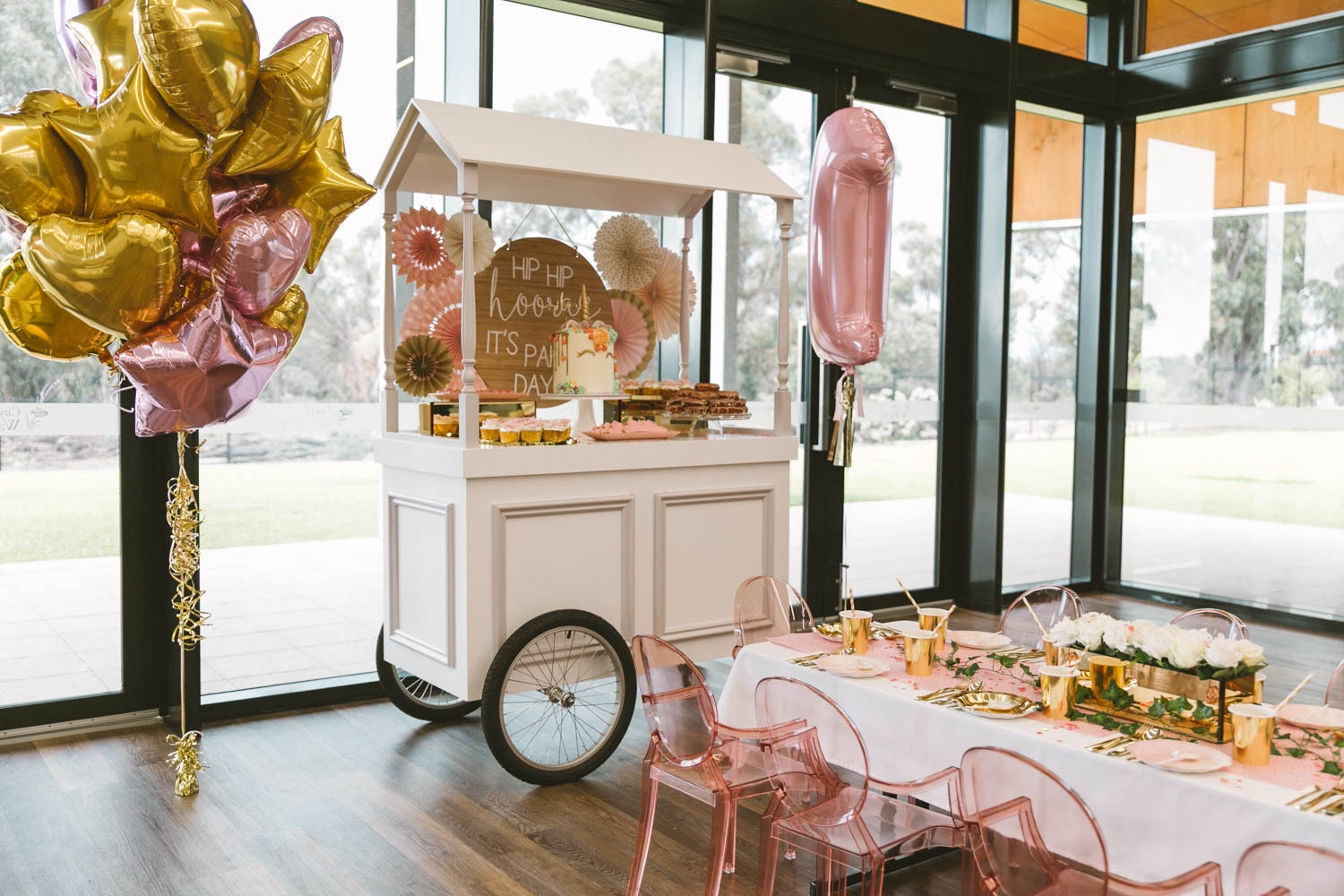 PINK AND GOLD GLAM FIRST BIRTHDAY