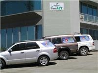 Our towing team, Ford Territory auto, GX 1985 Sahara manual Land Cruiser  and auto Sahara 4.2 TD