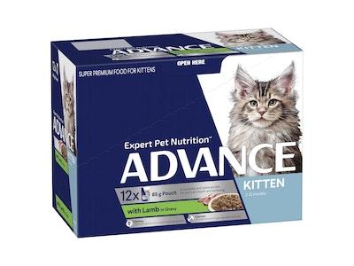 Advance Kitten 2-12 Months Lamb Gravy 12X85g