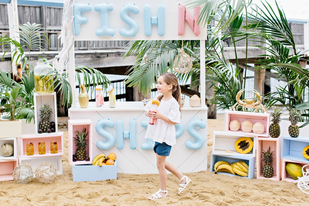 LENZO Betts Kids Summer Fish and Chips Store Party