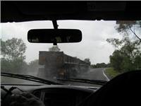 Wet season road train roulette near Darwin NT