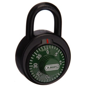 ABUS Circular Combination Padlock with Key Override – Green Face 78KC50