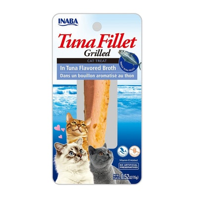 INABA Tuna Fillet Grilled Cat Treat in Tuna Flavored Broth 6 x 15g