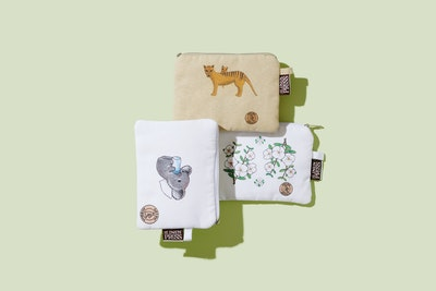 Art'N Green Baby Koala Organic Cotton PURSE - LARGE - 14cm x 20cm