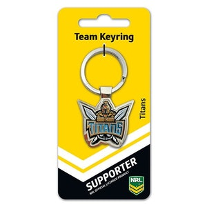 Creative Keys NRL Team Logo Key Ring - Gold Coast Titans