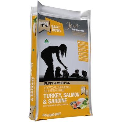 MEALS FOR MUTTS MFM Puppy & Whelping Gluten Free Turkey Salmon & Sardine Dog Food - 3 Sizes
