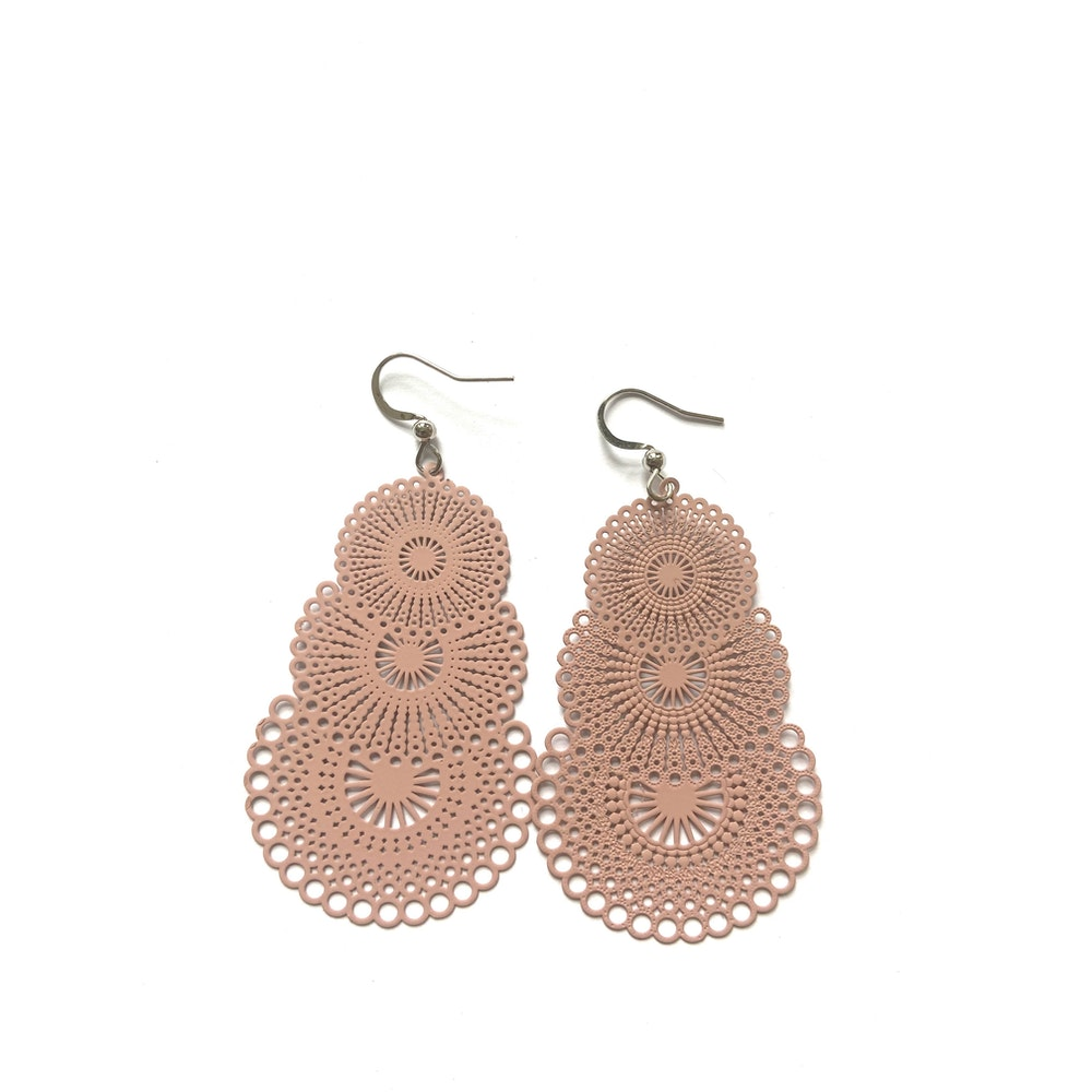 One of a Kind Club Pink Strong Circles Earrings