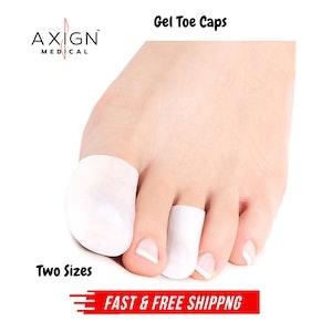 Axign Medical Toe Silicone Gel Protector Sleeve Tubes Ingrown Nail Corn Cushion Cap