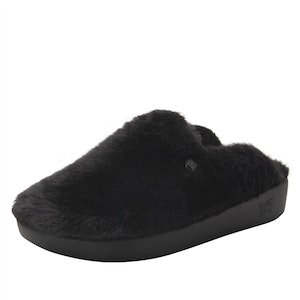 Boutique Medical Alegria Leisurelee Comfortable Women's Open Back Slippers in Black