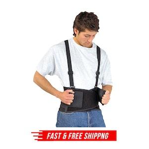 Back Support Belt Adjustable Back & Lumbar Support Work Home Office Medical
