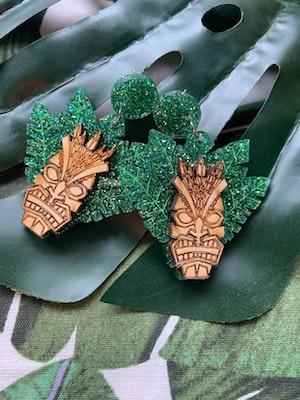 Ella Bea Goode Tiki Palm Leaf Earrings 2020