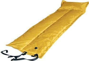 Trailblazer Self-Inflatable Air Mattress With Pillow | Yellow