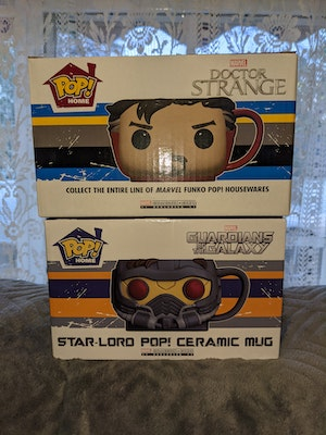 MCC Marvel Collector Corps Exclusive Pop! Mugs - Dr. Strange and Star-Lord