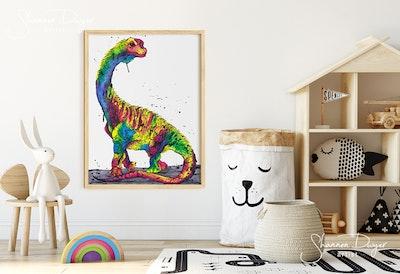 Brilliant-osaurus (Brachiosaurus), Art Print
