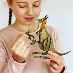 Kangaroo 3D model kit