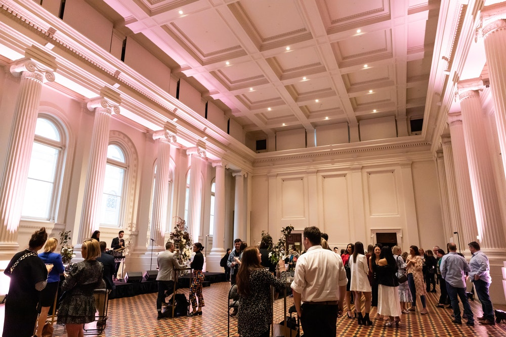 Inside the immigration Museum's Long Room with LENZO