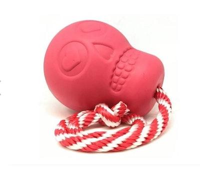 Soda Pup Skull Reward Toy on Rope