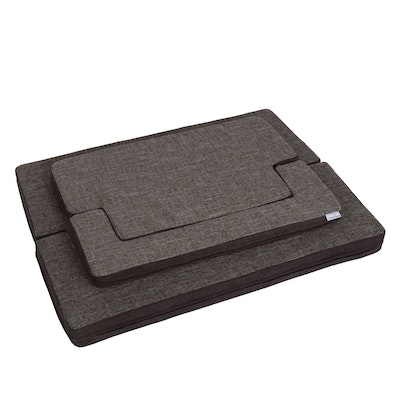 Charlie's Padded Support Mat with Bolster Rectangular Grey/Brown