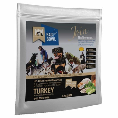MEALS FOR MUTTS High Perform Grain Free Adult Turkey & Chickpea Dry Dog Food