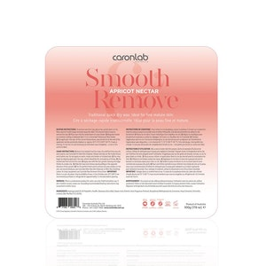 Caronlab Apricot Nectar Hard Hot Wax Pallet Tray 500g Waxing Hair Removal