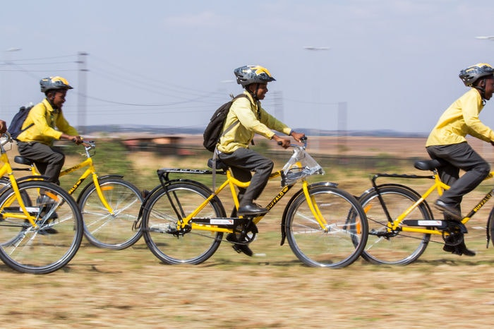 display Qhubeka BEEP Orange Farm Partner Use S3
